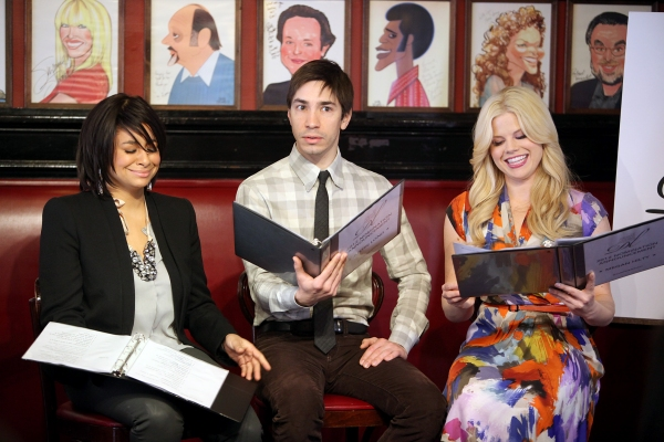 Raven-Symone, Justin Long, Megan Hilty at Megan Hilty, Justin Long & Raven-Symone Announce Drama League Nominations!