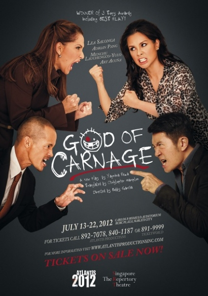 Photo Flash: GOD OF CARNAGE Poster Featuring Lea Salonga Released