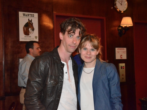 Photo Flash: Casts of ONCE and PETER AND THE STARCATCHER at Sardi's for NYTW's Night on Broadway!