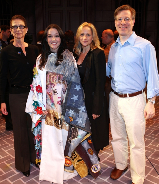 Executive Director of AEA Mary McColl, Cameron Adams, Paige Price & Ira Mont  at NICE WORK IF YOU CAN GET IT Gypsy Robe Ceremony!