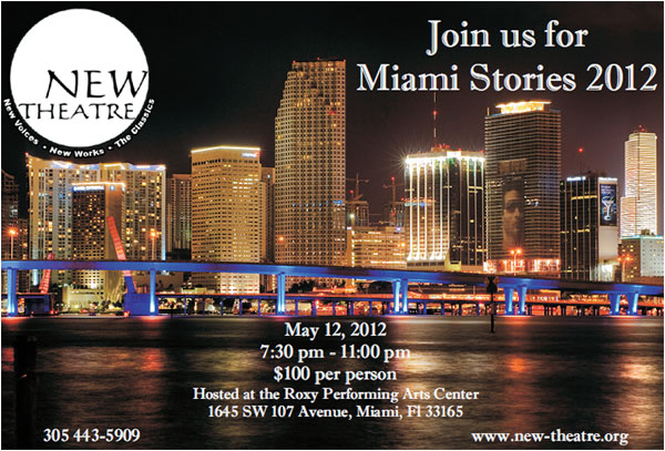 New Theatre Presents 6th Annual MIAMI STORIES