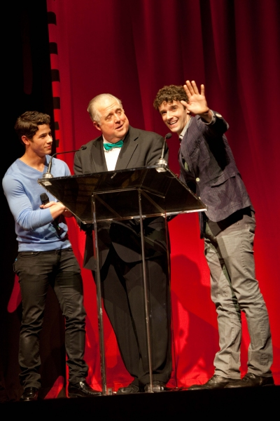 Nick Jonas, Rob Bartlett and Michael Urie