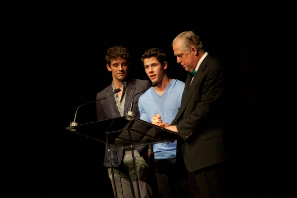 Michael Urie, Nick Jonas and Rob Bartlett at BC/EFA Easter Bonnet Competition - Day 1!