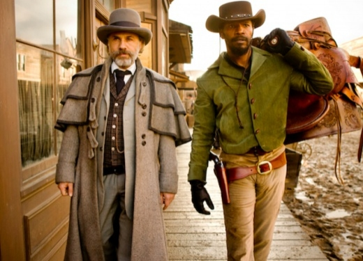 Christoph Waltz & Jamie Foxx at First Look - Leonardo DiCaprio in DJANGO UNCHAINED