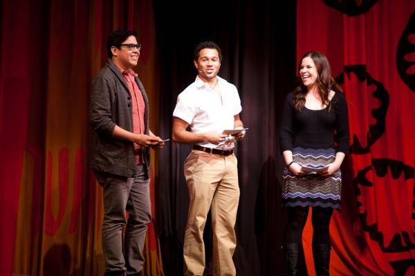 George Salazar, Corbin Blue and Lindsay Mendez