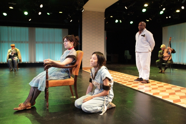 Yuri Skujins as Mme. Voynitskaya, Rebecca Hart as Helena, Susan Hyon as Sonya, Greig  Photo