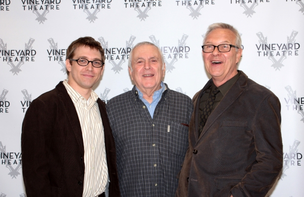 Greg Pierce, John Kander, Walter Bobbie at Meet the Cast of THE LANDING!