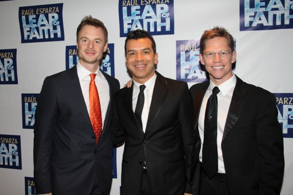 Christopher Wheeldon, Sergio Trujillo and Jack Noseworthy at LEAP OF FAITH - Opening Night Party!