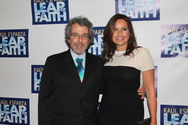 Warren Leight and Mariska Hargitay at LEAP OF FAITH - Opening Night Party!