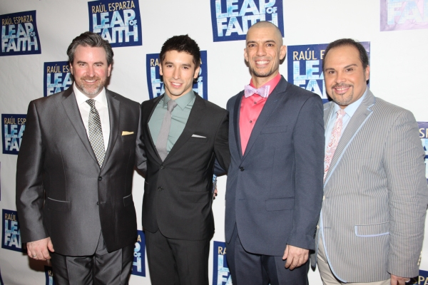 Danny Stiles, Ian Paget, Dennis Stowe and Eliseo Roman at LEAP OF FAITH - Opening Night Party!