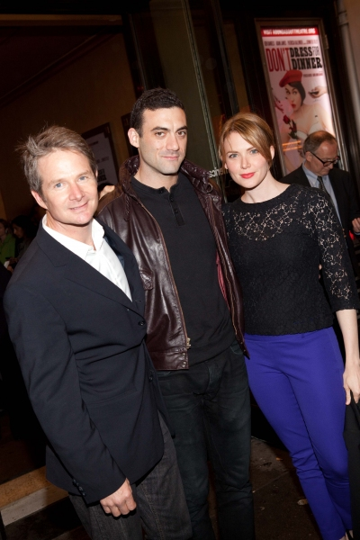 Peter Benson, Morgan Spector and Holley Fain at DON'T DRESS FOR DINNER Arrivals - Laura Osnes, Jim Parsons & More!