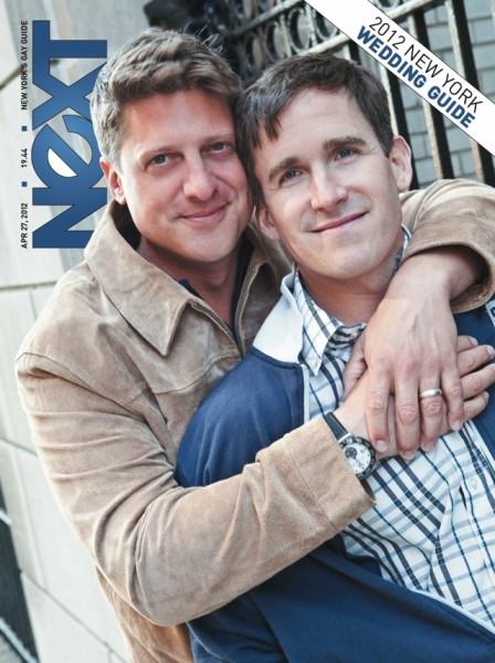 Photo Flash:  Newlyweds Christopher Sieber and Kevin Burrows on the Cover of NEXT Magazine!