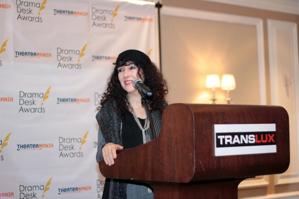 Barbara Siegel at Donna Murphy & Brian d'Arcy James Announce Drama Desk Nominations!