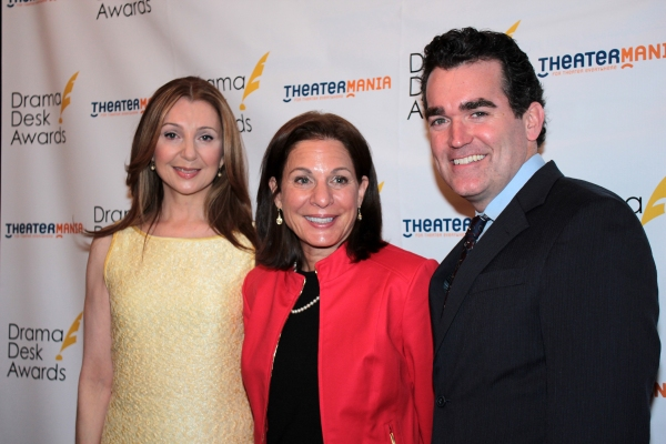 Donna Murphy, Isa Goldberg, Brian d'Arcy James at Donna Murphy & Brian d'Arcy James Announce Drama Desk Nominations!