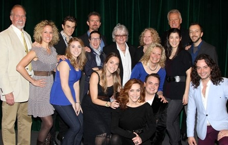 "Graham Russell and Russell Hitchcock of ""Air Supply"" pose with the cast at The Air Supply Musical LOST IN LOVE"