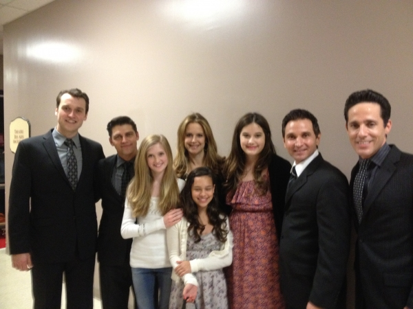 Rob Marnell, Deven May, family friend, Kelly Preston, family friend, Ella Travolta, T Photo