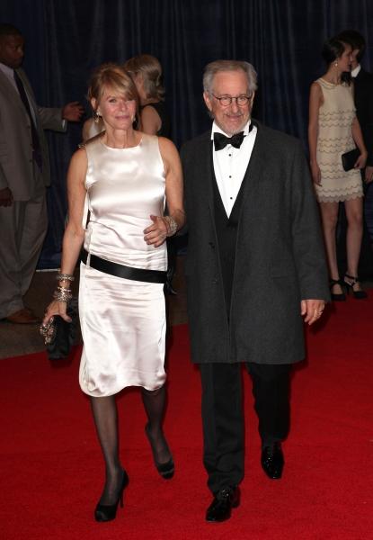 Kate Capshaw & Steven Spielberg at Viola Davis, Daniel Radcliffe, et al. at 98th Annual White House Correspondents' Association Dinner