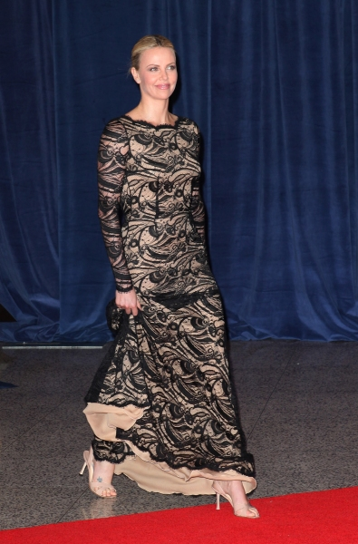 Charlize Theron at Viola Davis, Daniel Radcliffe, et al. at 98th Annual White House Correspondents' Association Dinner