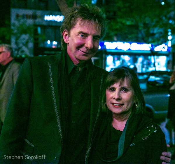 Barry Manilow & co- producer Sandie Durell at Barry Manilow, et al. at AN EVENING WITH MARTY PANZER at The Triad