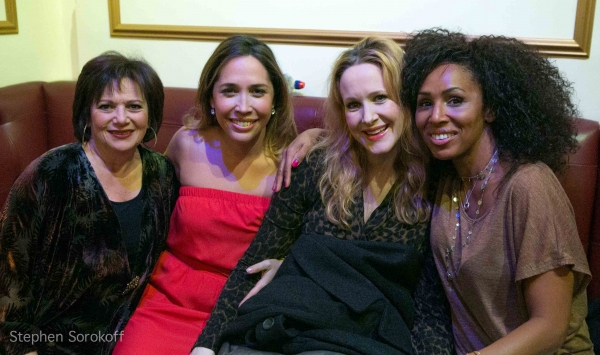 Susan Winter, Andrea Burns, Katie Finneran, Maya Days at Barry Manilow, et al. at AN EVENING WITH MARTY PANZER at The Triad
