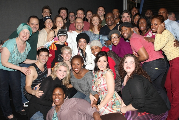 Dennis Stowe with Raul Esparza, Eliseo Roman, Talon Ackerman, Michelle Duffy, Jessica Phillips & Company at Inside the LEAP OF FAITH Gypsy Robe Ceremony!
