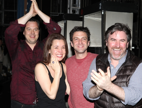 Tad Wilson, Michelle Duffy, Raul Esparza & Danny Stiles  at Inside the LEAP OF FAITH Gypsy Robe Ceremony!