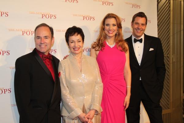 Stephen Flaherty, Lynn Ahrens, Rachel York and Steven Reineke