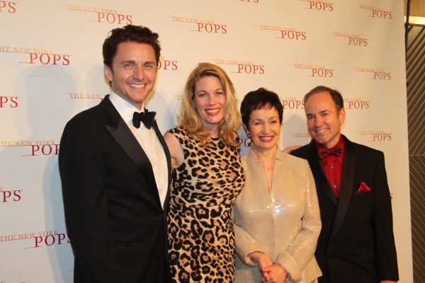 Jason Danieley, Marin Mazzie, Lynn Ahrens and Stephen Flaherty