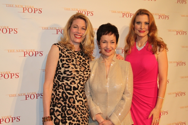 Marin Mazzie, Lynn Ahrens and Rachel York
