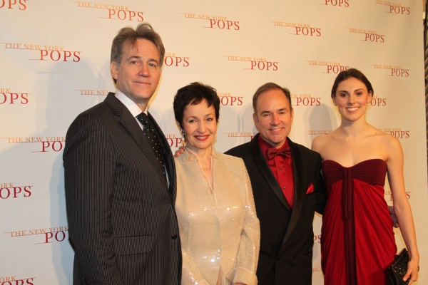 Boyd Gaines, Lynn Ahrens, Stephen Flaherty and Tiler Peck