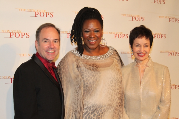 Stephen Flaherty,  Kecia Lewis-Evans and Lynn Ahrens