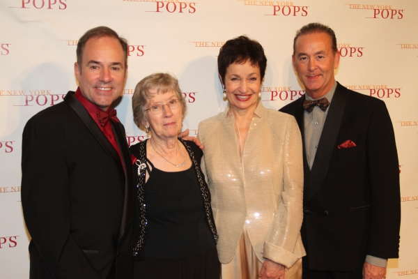 Stephen Flaherty, Mildred Flaherty and Trevor Hardwick