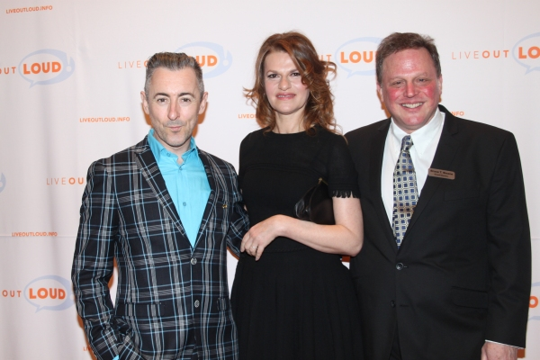 Alan Cumming, Sandra Bernhard and Honoree Bruce T. Sloane at Live Out Loud 11th Annual Gala