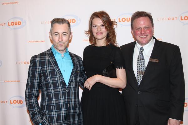 Alan Cumming, Sandra Bernhard and Honoree Bruce T. Sloane Photo