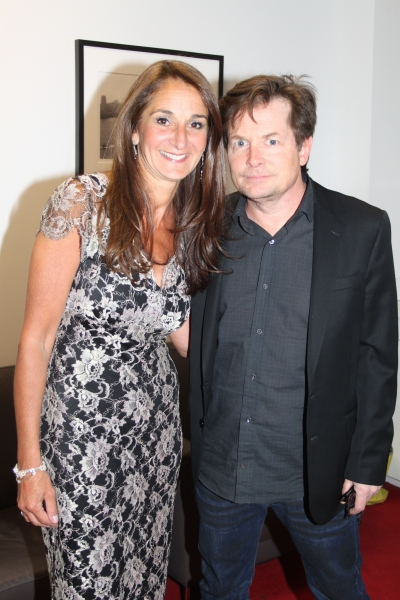 Honoree Val DiFebo and Michael J. Fox