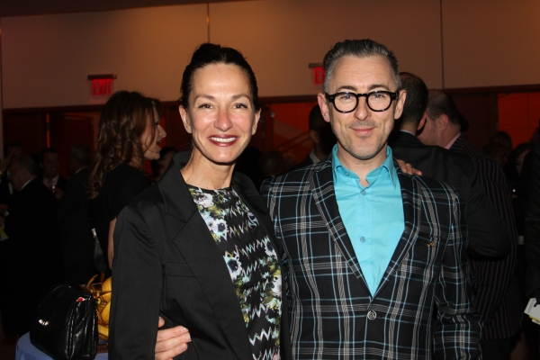 Cynthia Rowley and Alan Cumming