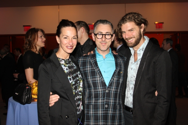 Cynthia Rowley, Alan Cumming and Lance Horne at Live Out Loud 11th Annual Gala
