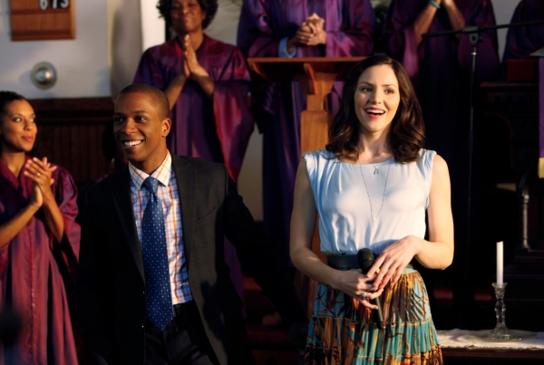 Leslie Odom, Jr & Katharine McPhee at BWW Exclusive - Leslie Odom Jr. in SMASH  'Preview'  Episode