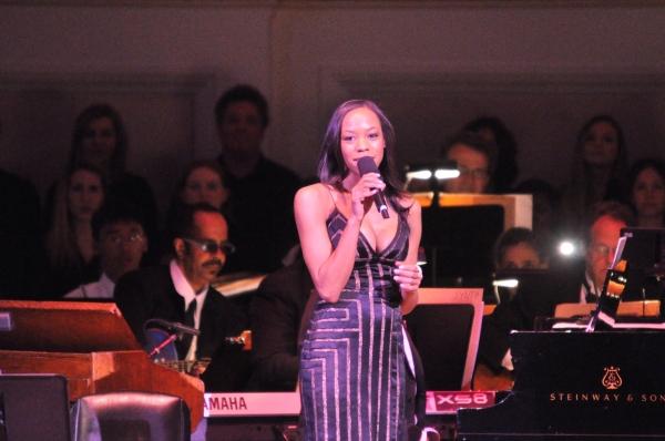 Nikki M. James at Andrew Rannells, Marin Mazzie, et al. at New York Pops 29th Birthday Gala