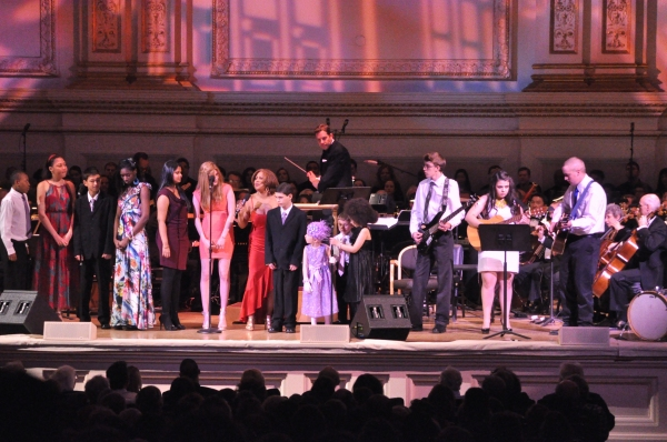 Darlene Love and the Ronald McDonald House Rock Band and Chorus at Andrew Rannells, Marin Mazzie, et al. at New York Pops 29th Birthday Gala