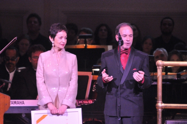 Lynn Ahrens and Stephen Flaherty at Andrew Rannells, Marin Mazzie, et al. at New York Pops 29th Birthday Gala