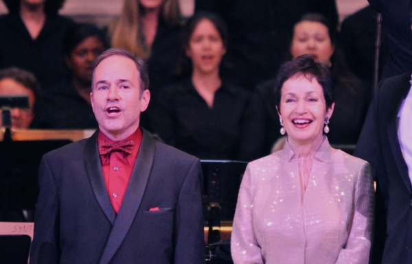 Stephen Flaherty and Lynn Ahrens at Andrew Rannells, Marin Mazzie, et al. at New York Pops 29th Birthday Gala