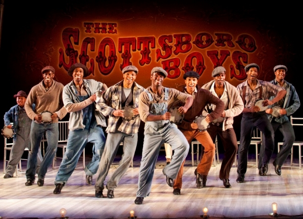 Nile Bullock, Eric Jackson, David Bazemore, Christopher James Culberson, James T. Lane, Clinton Roane, Clifton Duncan, Clifton Oliver and Shavey Brown at The Old Globe's SCOTTSBORO BOYS in Performance