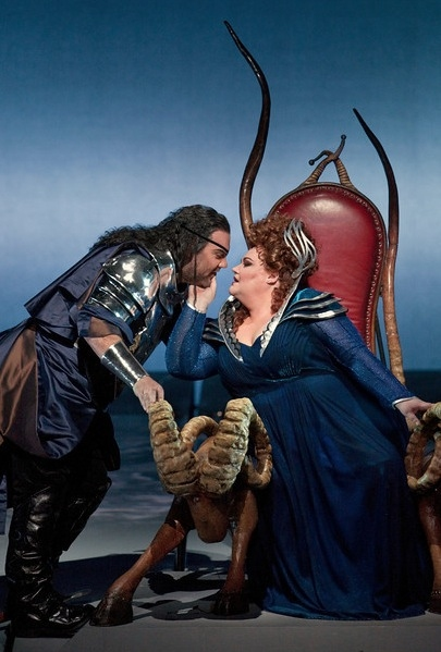 "Bryn Terfel as Wotan and Stephanie Blythe as Fricka in Wagner's �""Die Walküre."""