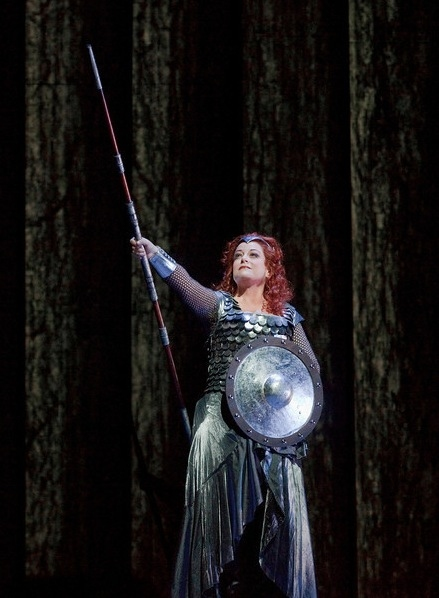 "Deborah Voigt as Brunnhilde in Wagner's ""Die Walkure"""
