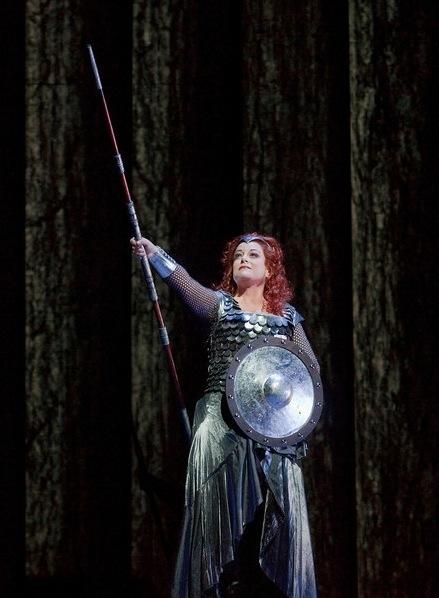 """Deborah Voigt as Brunnhilde in Wagner's """"Die Walkure"""""""