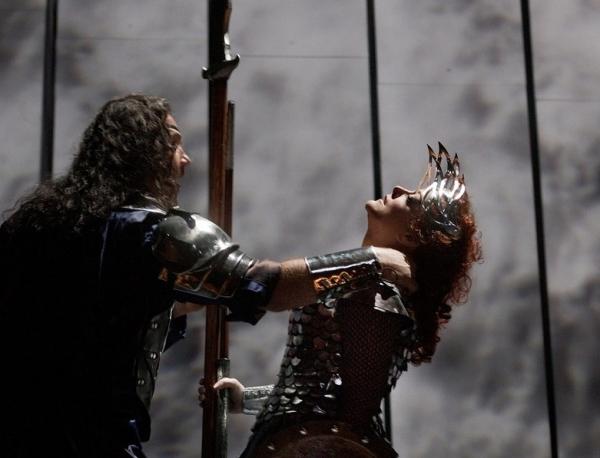 """Bryn Terfel as Wotan and Deborah Voigt as Brunnhilde in Wagner's """"Die Walkure"""""""