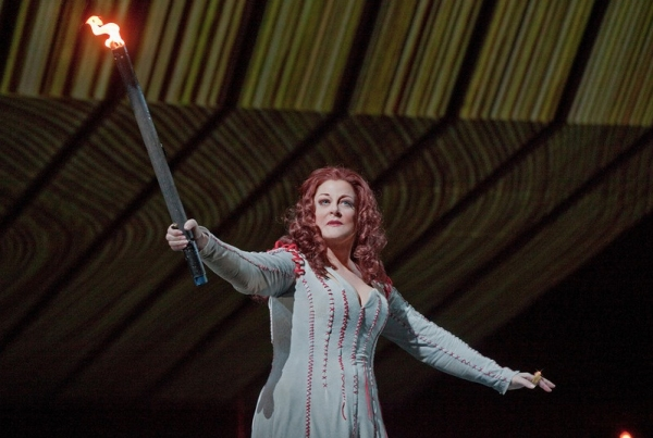 Deborah Voigt as Brunnhilde in Wagner's Gotterdammerung at First Look at Wagner's RING CYCLE, to Screen in THE MET: LIVE IN HD, Beg. 5/7