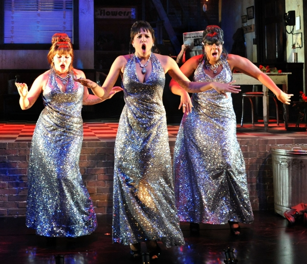 The Doo-Wop Girls: Colleen Grate (Chiffon), Jennie Greenberry (Crystal), Eboni Fondren (Ronette)