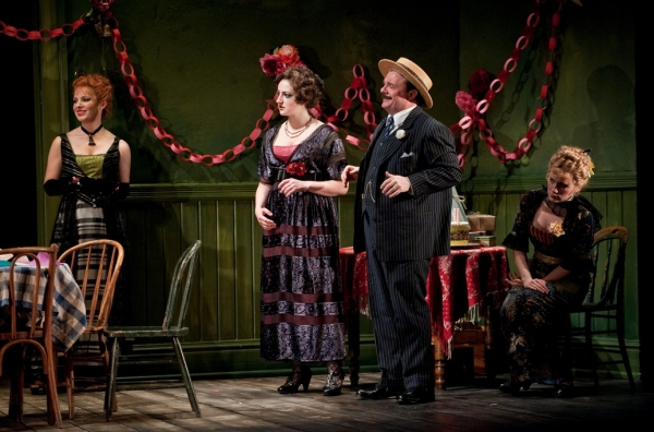 "Cora (Kate Arrington), Pearl (Tara Sissom), Theodore �""Hickey Hickman (Nathan Lane) and Margie (Lee Stark)"